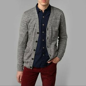 Hawkings McGill Men's Heather Gray Cardigan